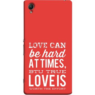 FUSON Designer Back Case Cover For Sony Xperia Z4 Compact :: Sony Xperia Z4 Mini (Love Is Worth The Effort Pure Lovers Hearts)