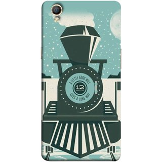 FUSON Designer Back Case Cover for Oppo A37 (Train Engine Smoke Little Good Will Goes Long Way)