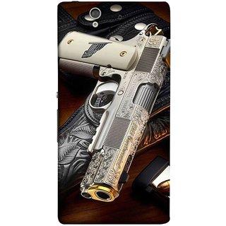 FUSON Designer Back Case Cover For Sony Xperia Z :: Sony Xperia ZC6603 :: Sony Xperia Z L36h C6602 :: Sony Xperia Z LTE, Sony Xperia Z HSPA+ (Gun Pouch Holder Loading Bullets Killing Murders )