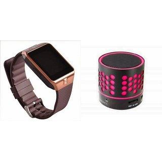 Mirza DZ09 Smartwatch and S10 Bluetooth Speaker  for MOTOROLA defy plus(DZ09 Smart Watch With 4G Sim Card, Memory Card| S10 Bluetooth Speaker)