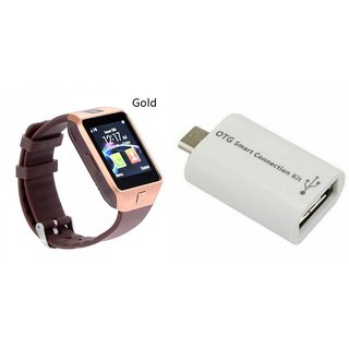 Mirza DZ09 Smart Watch and Smart OTG for LENOVO a628t(DZ09 Smart Watch With 4G Sim Card, Memory Card| Smart OTG)
