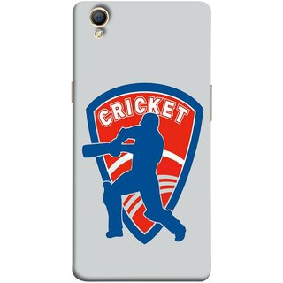 FUSON Designer Back Case Cover for Oppo A37 (County Cricket India Aus England Bat Ball Batsman)