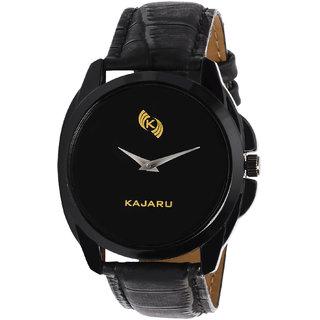 Kajaru KJR-8 Analog Black Dial Watch for Men-KJR828
