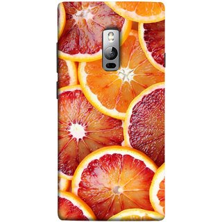 FUSON Designer Back Case Cover for OnePlus 2 :: OnePlus Two :: One Plus 2 (Citric Flesh Food Fruit Green Lemon Part Peel Orange)
