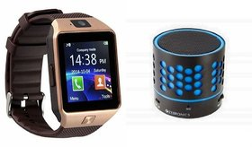 Mirza DZ09 Smartwatch and S10 Bluetooth Speaker  for SAMSUNG GALAXY NOTE 5 DUAL(DZ09 Smart Watch With 4G Sim Card, Memory Card| S10 Bluetooth Speaker)