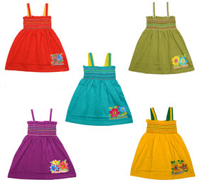 Pack of 5 Eazy Trendz Cute Little Baby Frocks