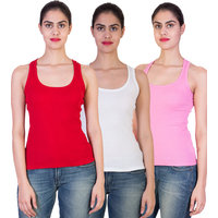 Fashion King  Women's Camisole  Tank Top Pack of 3