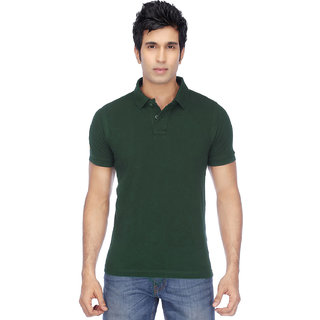 KETEX designs Bottle Green Polo T Shirt