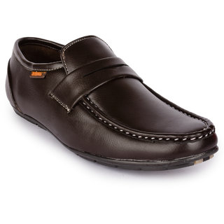 Action Men'S Brown Loafers