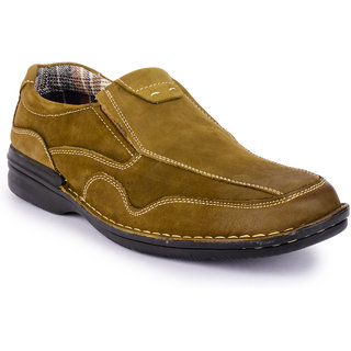 Action MenS Khaki Slip On Boots