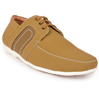 Action Men'S Tan Lace-Up Casual Shoes