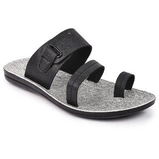 Action Men'S Black Slippers