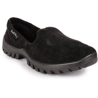 Action MenS Black Slip On Casual Shoes