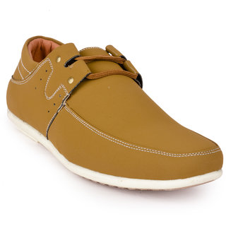 Action MenS Tan Lace-Up Casual Shoes
