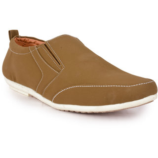 Action MenS Tan Slip On Casual Shoes