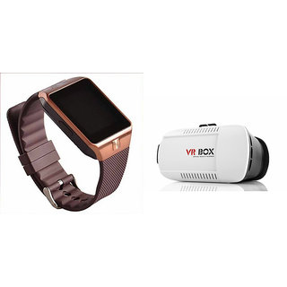 Mirza DZ09 Smart Watch and VR Box  for PANASONIC T4 1(DZ09 Smart Watch With 4G Sim Card, Memory Card| VR, Virtual Reality Box)