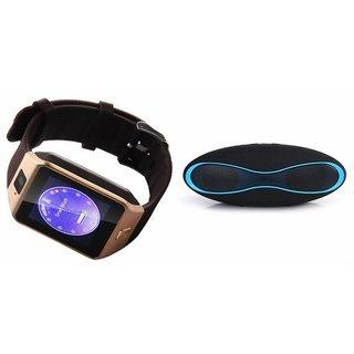 Mirza DZ09 Smartwatch and Rugby Bluetooth Speaker  for SAMSUNG GALAXY MEGA PLUS(DZ09 Smart Watch With 4G Sim Card, Memory Card  Rugby Bluetooth Speaker)