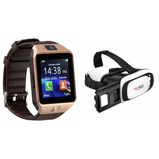 Mirza DZ09 Smart Watch and VR Box  for LG OPTIMUS L9.(DZ09 Smart Watch With 4G Sim Card, Memory Card| VR, Virtual Reality Box)