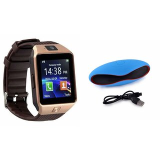 Mirza DZ09 Smartwatch and Rugby Bluetooth Speaker  for MICROMAX BOLT Q332(DZ09 Smart Watch With 4G Sim Card, Memory Card| Rugby Bluetooth Speaker)