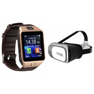Mirza DZ09 Smart Watch and VR Box  for XOLO PLAY T 1000(DZ09 Smart Watch With 4G Sim Card, Memory Card| VR, Virtual Reality Box)