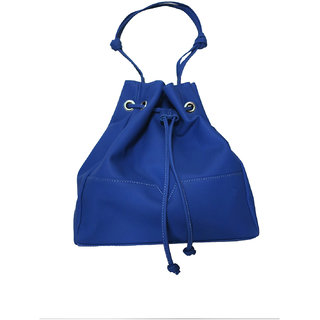 WOMENS BUCKET TOTE BAG BLUE (Bretagne Bleu)