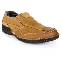 Action Men'S Brown Slip On Casual Shoes