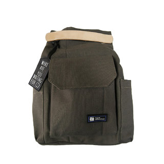 Unisex Olive Double Style Canvas Convertible Laptop Bag (Loches Olive)