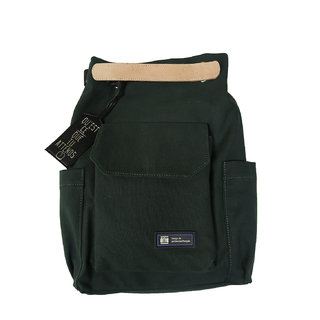 Unisex Green Double Style Canvas Convertible Laptop Bag (Loches Vert)