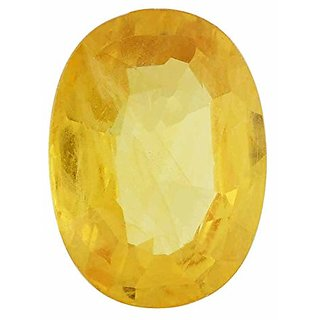 Ratna Gemstone Yellow sapphire (Pukhraj)  5.50 Carat Certified Natural Rashi Ratan Gemstone