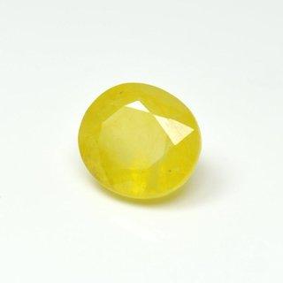 Ratna Gemstone Yellow sapphire (Pukhraj) 8.50 Carat Certified Natural Rashi Ratan Gemstone