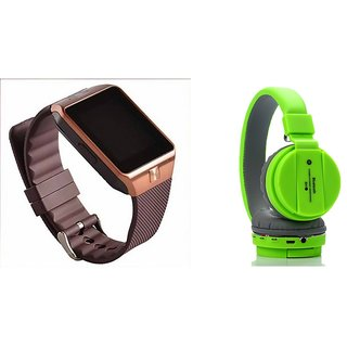 Mirza DZ09 Smart Watch and SH 10 Bluetooth Headphone for GIONEE PIONEER P3(DZ09 Smart Watch With 4G Sim Card, Memory Card| SH 10 Bluetooth Headphone)