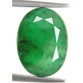 Ratna Gemstone Emerald Stone (Panna)   5.50  Carat Certified Natural Rashi Ratan Gemstone