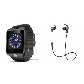 Mirza DZ09 Smart Watch and Reflect Earphone for Lenovo K8 Note(DZ09 Smart Watch With 4G Sim Card, Memory Card| Reflect Earphone)