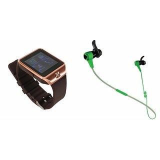 Mirza DZ09 Smart Watch and Reflect Earphone for Redmi 4 A(DZ09 Smart Watch With 4G Sim Card, Memory Card  Reflect Earphone)