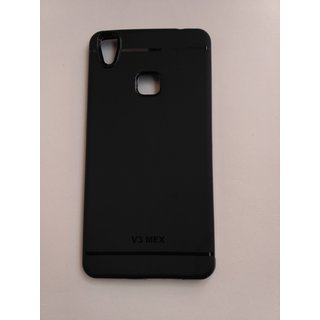 Vivo V3 Max plain( black) rubber back cover for Vivo V3 Max