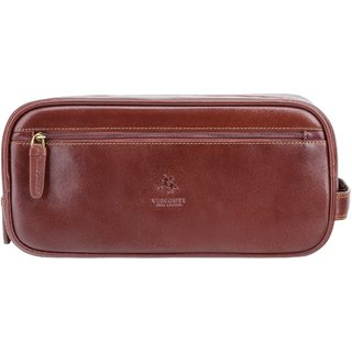 Visconti Naples Brown Genuine Leather Wash bag For Men & Women