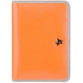 Visconti Rhodes Hummingbird Orange & Grey Color Genuine Leather Passport Holder For Woman