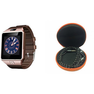 Mirza DZ09 Smart Watch and Katori Earphone for SONY xperia m2 aqua(DZ09 Smart Watch With 4G Sim Card, Memory Card| Katori Earphone)