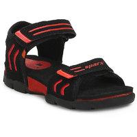 Sparx Kids Black & Red Floater Sandals (SS-106K)