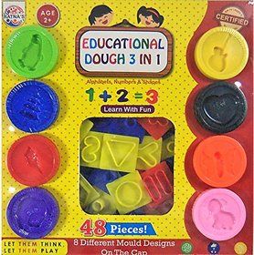 Ratna's Educational Dough 3 In 1 (48 Pieces) (Multi)