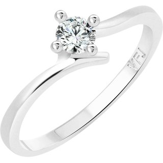 Vighnaharta Youth Solitaire CZ Rhodium Plated Alloy Ring for Women and Girls - [VFJ1249FRR16]