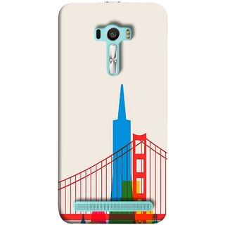 FUSON Designer Back Case Cover For Asus Zenfone Selfie ZD551KL (Astounding Skyscrapers Of Remarkable Architectural)