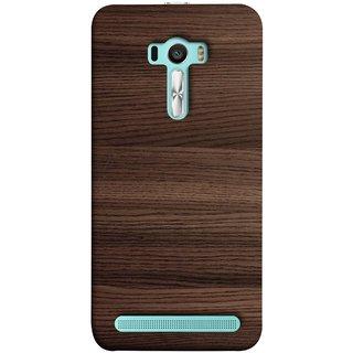FUSON Designer Back Case Cover For Asus Zenfone Selfie ZD551KL (Strips Brown Gray Sunmica Plywood Back Art Laminate)