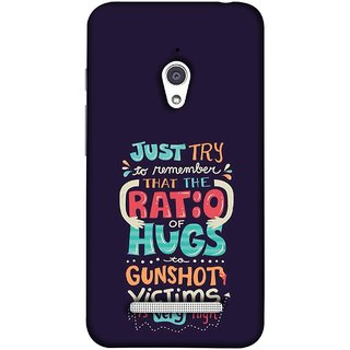 FUSON Designer Back Case Cover For Asus Zenfone Go ZC500TG (5 Inches) (To Gunshots Victims Is Very High Upwords Kisses )
