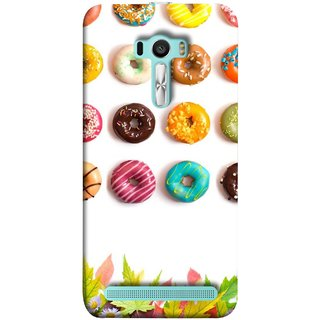 FUSON Designer Back Case Cover For Asus Zenfone Selfie ZD551KL (Cute Food Donuts Themes For Parties Soft &Amp)