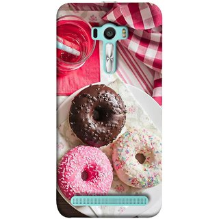 FUSON Designer Back Case Cover For Asus Zenfone Selfie ZD551KL (Glazed Donuts Sweet Desserts Party Cold Soft Drink)