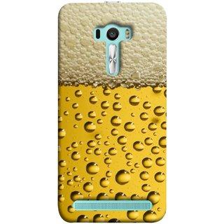 FUSON Designer Back Case Cover For Asus Zenfone Selfie ZD551KL (Life Hoto Beer Glass Bubble Daaru Drink Wine Fuzzy)