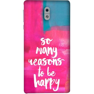 FUSON Designer Back Case Cover For Nokia 3 (Oil Painting Canvas Best Quotes Words Find Happiness)