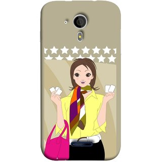 FUSON Designer Back Case Cover for Micromax Canvas Magnus A117 :: Micromax A117 Canvas Magnus (Animated 3D Starts Pink Bag Jeans Pant Yellow Shirt )