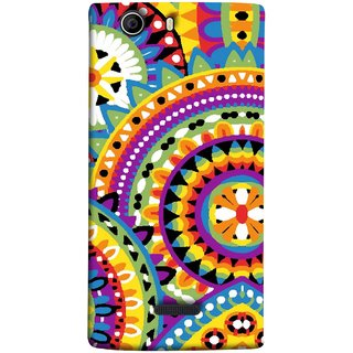 FUSON Designer Back Case Cover for Micromax Canvas Nitro 2 E311 (Best Rangoli Patterns Treditional Photo Wallpapers )